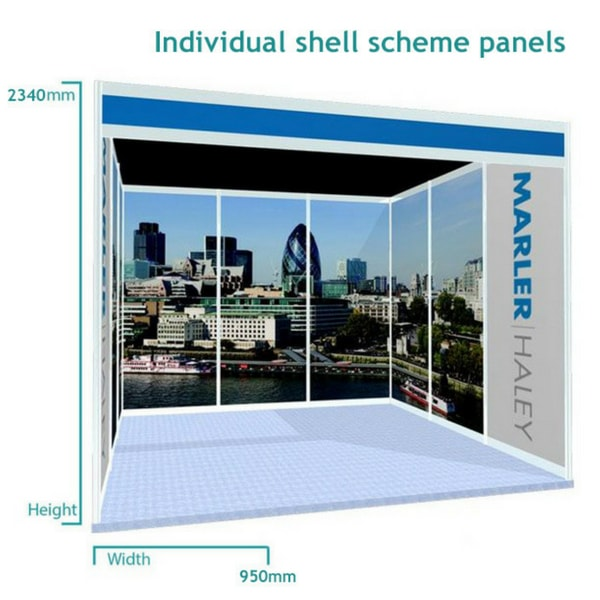 Exhibition Stand Dimensions : Shell scheme graphics exhibition foam board marler haley