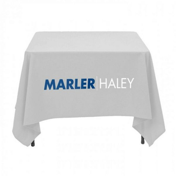 Square Printed Tablecloth White