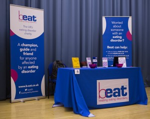 Printed Tablecloth in Blue with Beat Logo with Two Banners