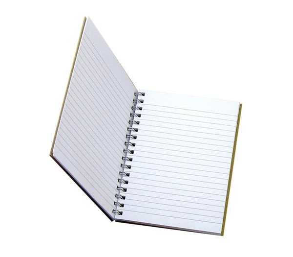 Recycled Notebook Open