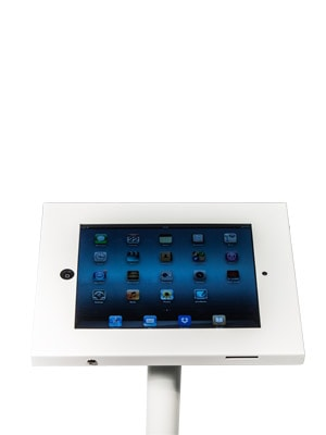 Freestanding iPad Holder Close Up White