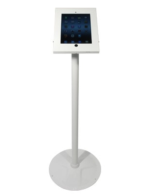 Freestanding iPad Holder White