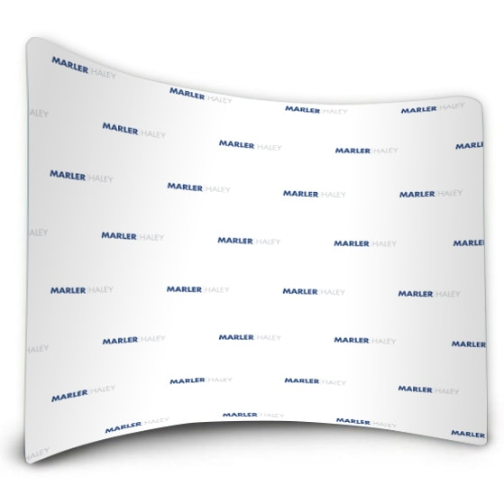 Step and Repeat Curved Fabric Backwall
