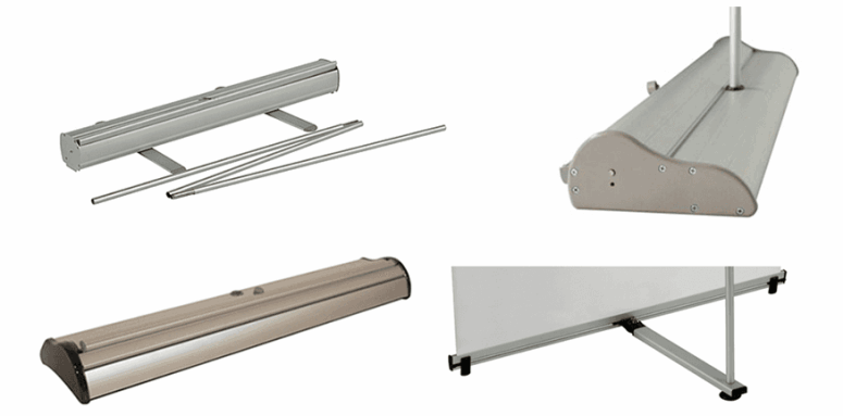 banner stand base options