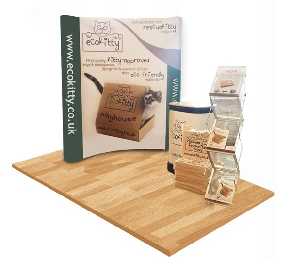 3x2 Curved Pop Up Stand Kit Example